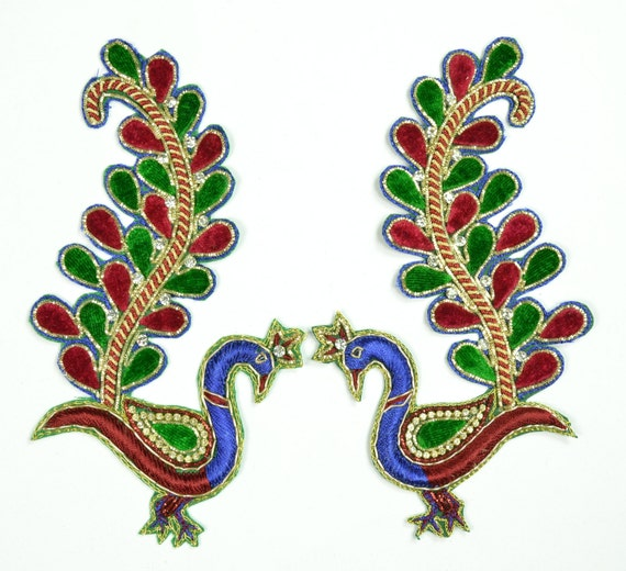 SALE 55x 35 Set 2 Pcs Embroidered Stone Work