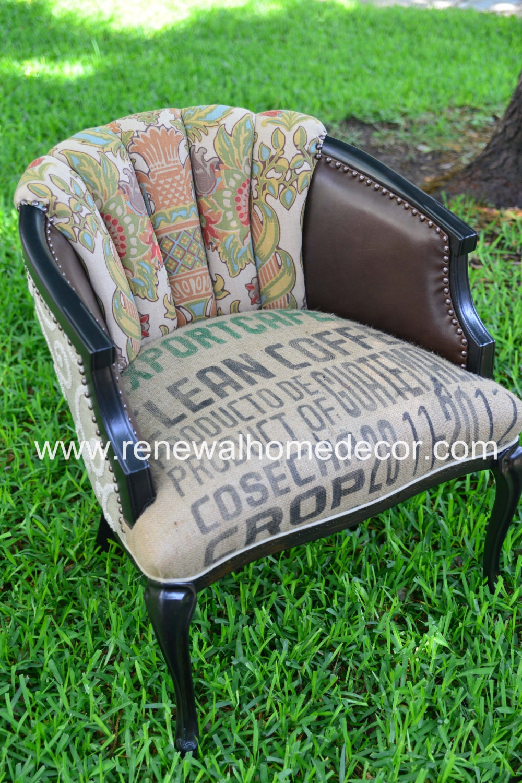 Vintage Accent Chair Vintage Damask Export Cafe