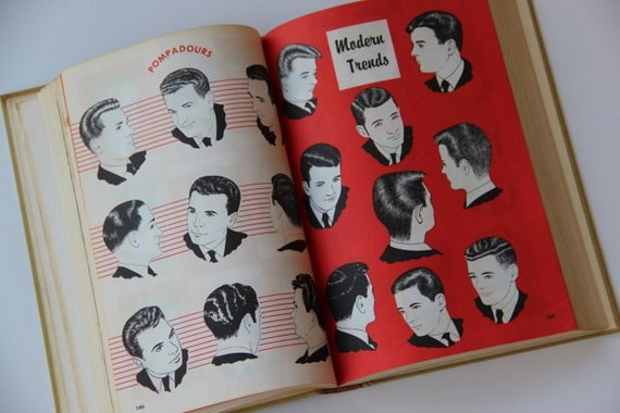Vintage Barber Book / Barbering / Mens Style / 60s Fashion / Medical ...