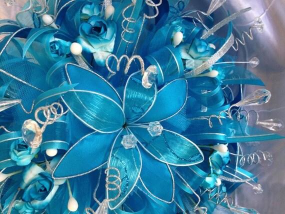 15 Anos Ramos: Ramo Para Quinceañera Bouquet Turquoise