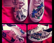 Hand Painted Roller Derby Plimsolls