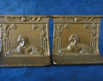 Antique Egyptian Revival Bookends