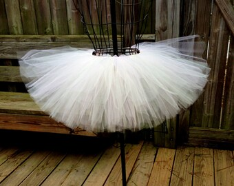 Zipporiah Tutu - Light Pink and Ivory Tutu - Available in Infant, Toddlers, Girls, Teenager, Adult and Plus Sizes