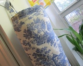Grocery plastic bag holder/ Napkin holder/ Cloth wipes holder/ Toilet paper holder blue toile print