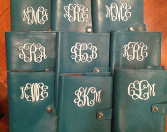 Personalized Wedding Party Gift/Refillable Leather Journals, monogrammed/Graduation Gift
