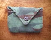 small green camo pouch