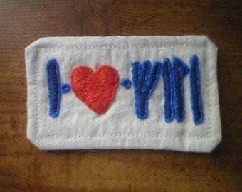 I Heart (Name) patch, dwarvish runes or elvish script
