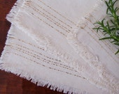 Vintage Set of Eight Rustic Linen Napkins