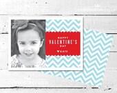 Sweet Chevron Valentine Photo Card - The Celebration Shoppe