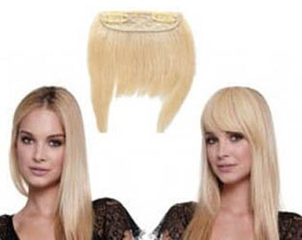 INSTANT BANGS -  Clip In Remy Human Hair Full Fringe