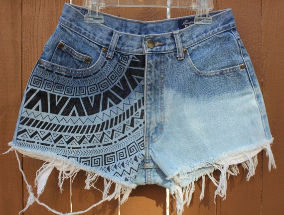 high waisted shorts designs - photo #5
