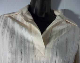 Vintage Peach Skirt Suit, Set, Size 10, Work, Secretary
