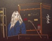 "Greg Allman of the Allman Brothers Limited Edition Print of Original Art by Artist Charles Freeman -10""x13"""