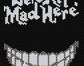 We're All Mad Here Peyote Stitch Bracelet Pattern