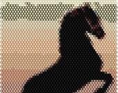 Seaside Horse Brick Stitch Bracelet Pattern