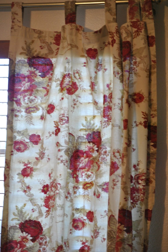 Sale Waverly Garden Room Rose Curtains