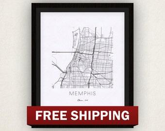Memphis Map Print