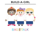BUILD A GIRL Printable Paper Bag Puppet Cut Outs