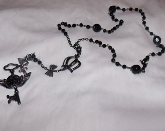 Gothic rosary/ steampunk rosary