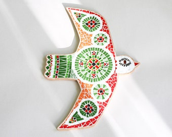 Multicolor Summer Bird - Mosaic wall decor - Decorative Art