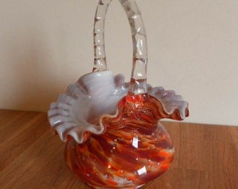 Fenton Vasa Murrhina - Autumn Orange Aventurine