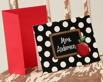 10 Personalized Notecards Polka Dot notecards Polka Dot Stationery by Swell Printing