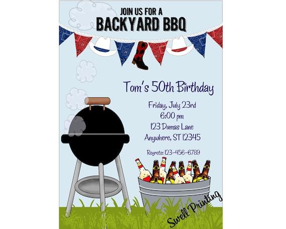 hinterhof grillparty einladung zu einer feier geburtstag, Einladung