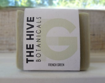 French Green Clay Soap - Natural Soap, Vegan Soap, Unscented Soap, Handmade Soap, Cold Process Soap