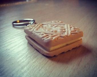 Custard Cream Keyring