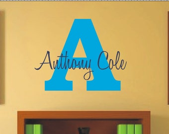 Wall Decal Boys Personalized Name - Monogrammed Vinyl Wall Lettering - Boys Room Decor - Teen Decor - Baby Nursery