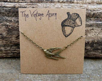 Swallow Necklace - Woodland Necklace