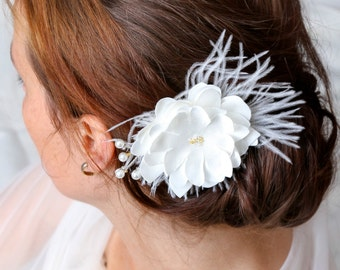 Hairflower, bridal headpiece, wedding headpiece, fascinator, hairaccessory, bridal accessory