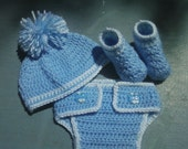 Crocheted Baby Boy Photo Prop