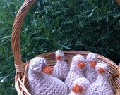 five little ducks, hand knitted, organic, pure wool