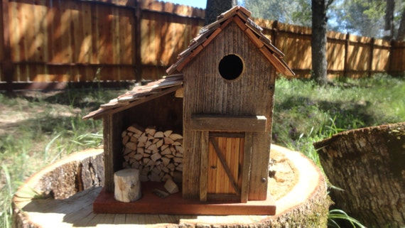Handmade Bird House By Thedocshop On Etsy