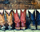 Nashville Cowboy Boots On Country Home Porch- Kix Brooks - ImageAndConcepts
