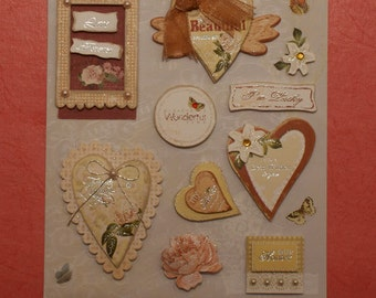 3D Stickers - Best wishes 3D stickers - Scrapbooking, Card-making