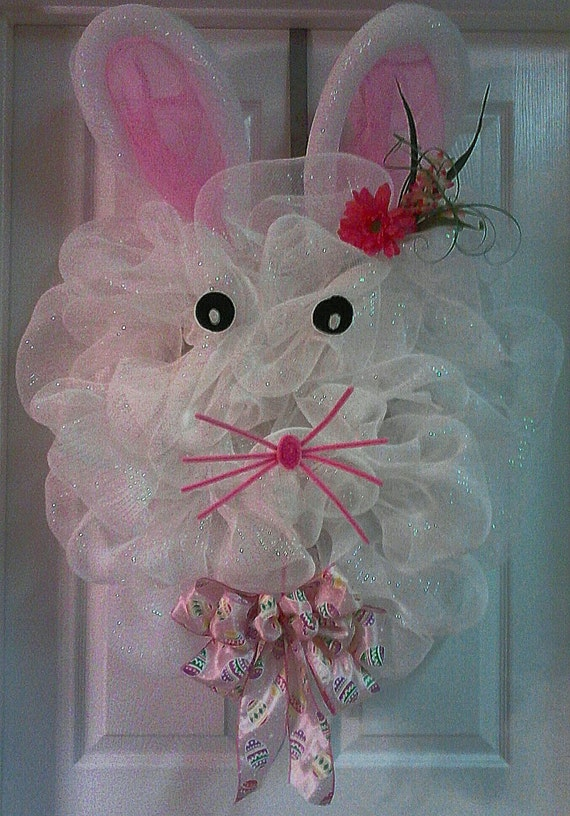Items Similar To Deco Mesh Bunny On Etsy
