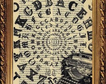 BOOK PAGE PRINT,Typewriter Art, Antique Print , Wall Art , Home Decor