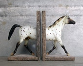 Polka Dot Sculpture Horse Bookend - EQUINEbyLauren