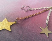 Silver and Gold Shooting Star Bag Charm/Key Chain