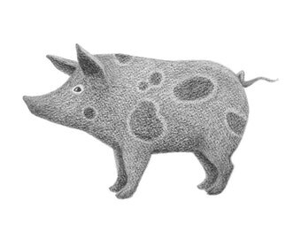 Spotted Pig - 4x6 print