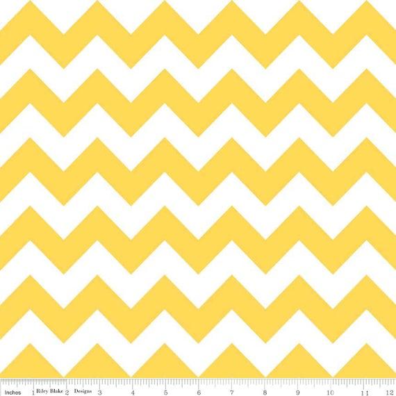 Chevron Stripe Yellow in Medium by Riley Blake Fabric 1 yard