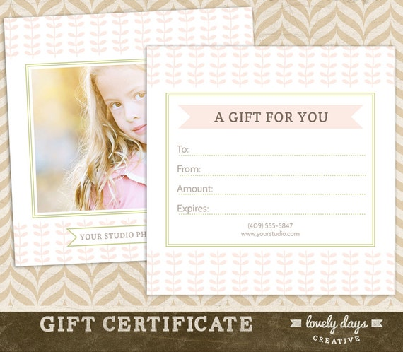 ... Certificate Template for Professional Photographers INSTANT DOWNLOAD