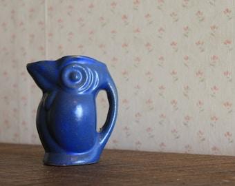 Cobalt Blue Tiny Toucan Creamer