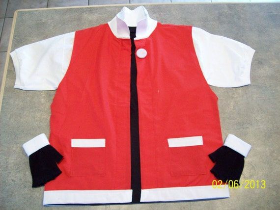 POKEMON  Trainer RED Costume - Cosplay Jacket, Gloves & Shirt - Adult Small  - Anime