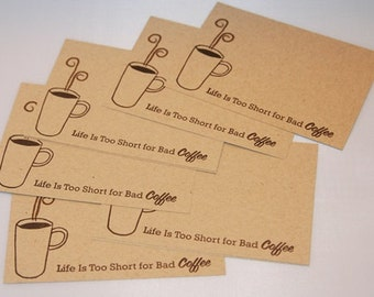 Steaming Coffee Hand Made All Occasion Note Card Set, Coffee Stationery, Coffee Note Cards, Thank You Note Cards