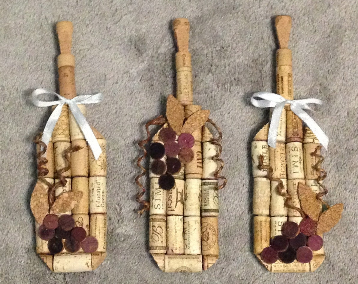 wine bottle wall hanging made from recycled