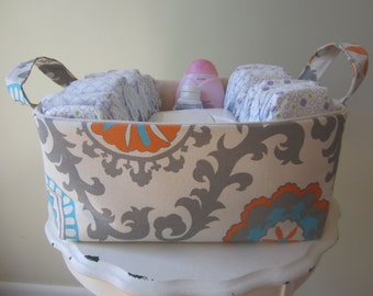 Fabric Bin - Organizer - Diaper Caddy - READY TO SHIP
