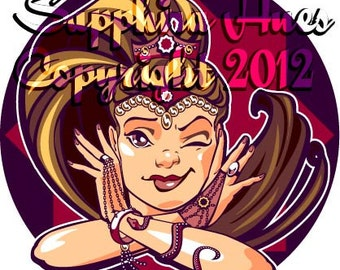 """8:  """"Wink""""  Belly Dance Clip art/Stock image for digital or print use."""